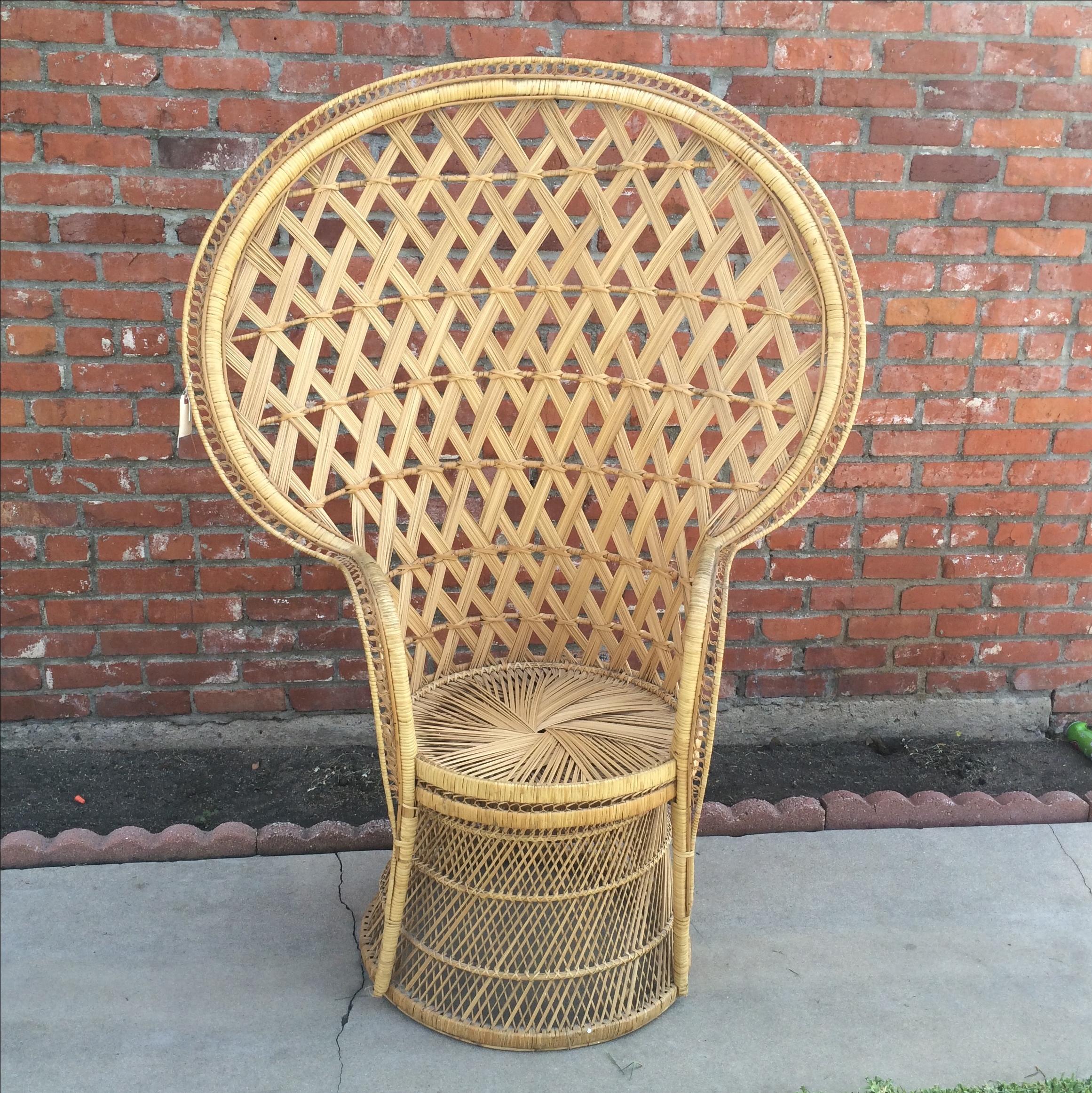 Rattan Peacock Fan Chair   Image 2 Of 8