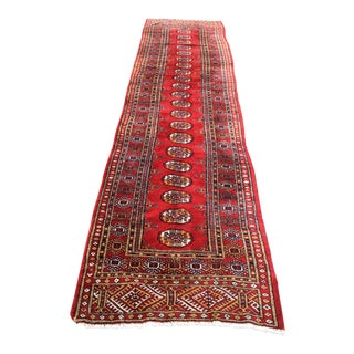 1970s Vintage Turkish Kurdish Rug Runner - 3′3″ × 12′6″ For Sale