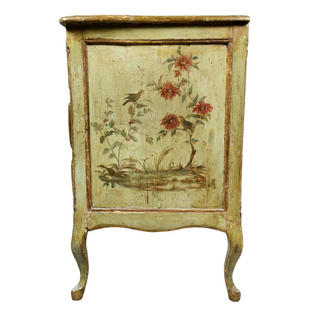 Italian Rococo Lacca Povera Painted Commode For Sale - Image 9 of 11