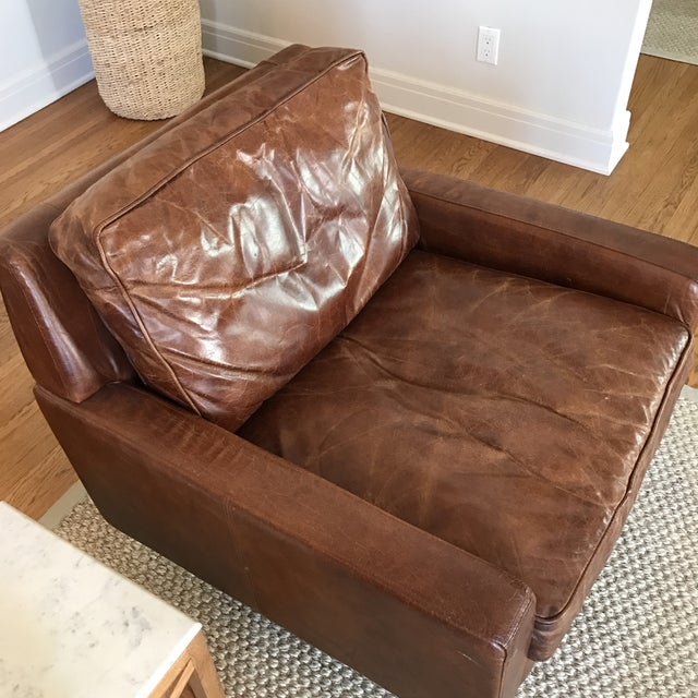 Timothy Oulton Modern Leather Club Chairs - A Pair - Image 4 of 8