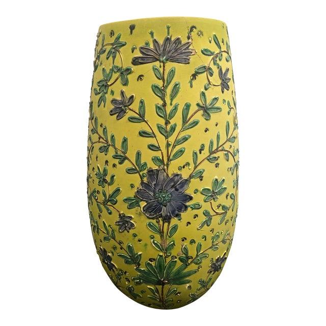 1940s Italian Majolica Vase For Sale