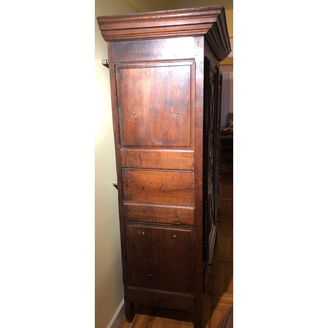 French Antique French Louis XIII Raised Croisillons Motifs Armoire For Sale - Image 3 of 9