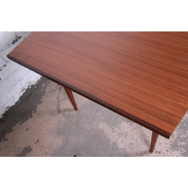 Kipp Stewart for Calvin American Design Foundation Walnut and Rosewood Boat-Shaped Extension Dining Table For Sale - Image 12 of 13