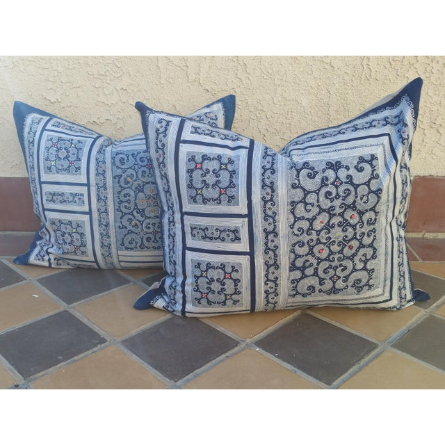 Micro Batik Tribal Pillows - Pair - Image 2 of 5