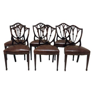 19th Century English Mahogany Dining Chairs - Set of 8 For Sale
