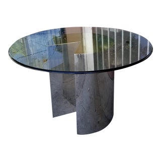 1950s Modern Chrome Dining Table For Sale