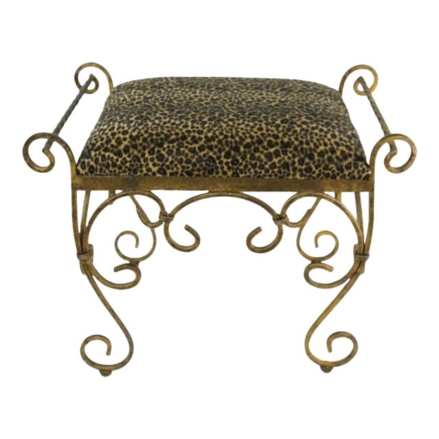 Vintage Vanity Stool Cast Iron For Sale