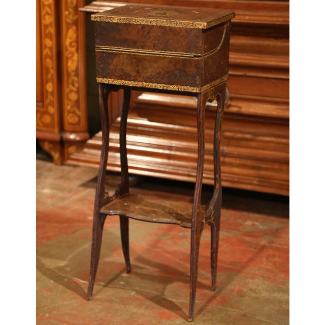 Early 19th Century French Faux Leather Bound Books Liquor Cabinet With Glasses For Sale - Image 10 of 11
