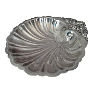 "Vintage Wallace ""Baroque"" Silver Shell-Form Dish For Sale"
