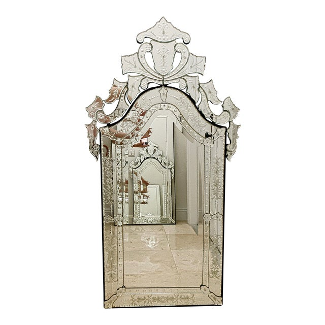 Vintage Venetian Tall Mirror For Sale