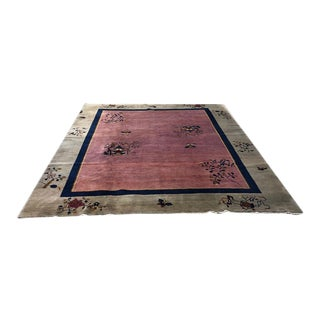 1920s Vintage Art Deco Chinese Rug For Sale