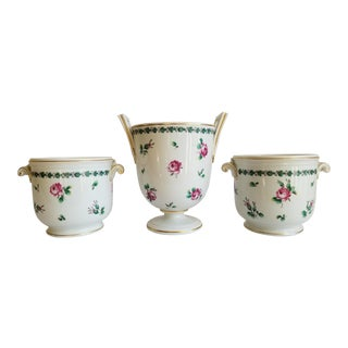 Vintage Richard Ginori Italy Porcelain Cache Pots - Set of 3 For Sale