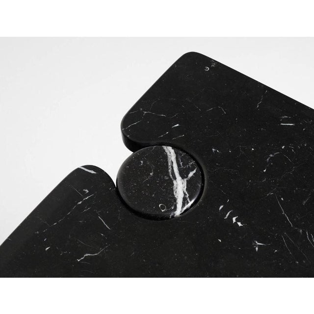 Italian 1970s Italian Marble Angelo Mangiarotti Console For Sale - Image 3 of 4