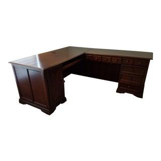 Cherry Computer Desk: L-Shaped Corner Desk For Sale