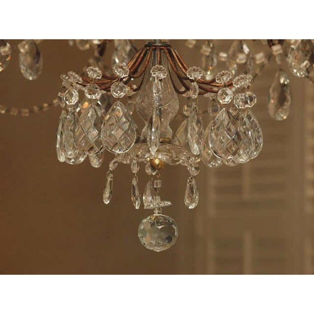 Italian 18 Lite Crystal Tiered Chandelier For Sale - Image 4 of 10