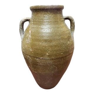 Late 19th Century Italian Amphora Terracotta Olive Oil Jar For Sale