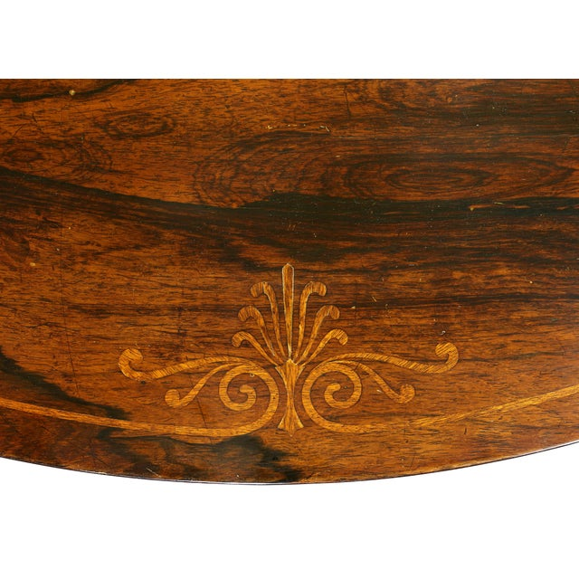 English Traditional Fine Regency Rosewood and Inlaid Centre / Breakfast Table For Sale - Image 3 of 9