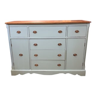 1940's Shabby Chic Sideboard Buffet Console For Sale
