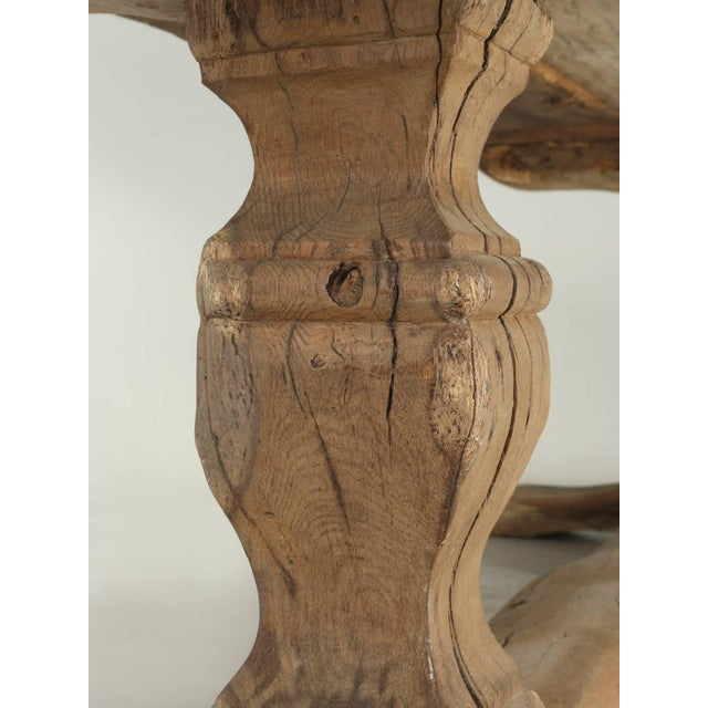 Oak Antique French Trestle Table, Circa 300 Years Old For Sale - Image 7 of 10