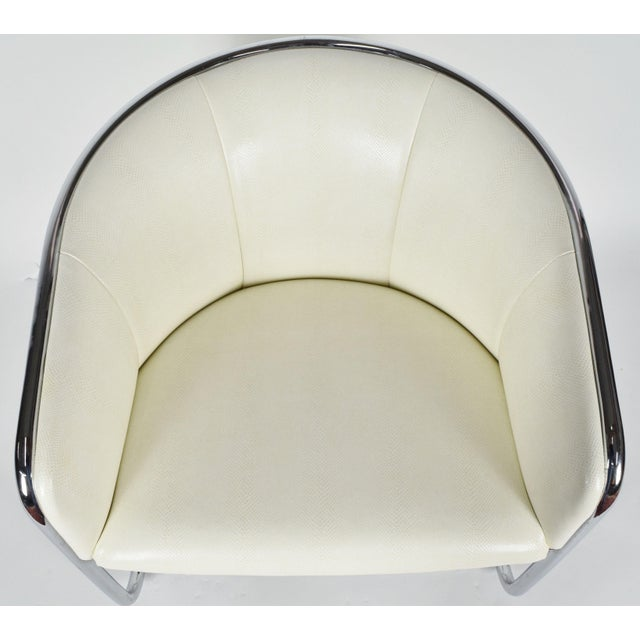 Mid-Century Modern Thonet Barrel Back Club Chair For Sale - Image 3 of 7