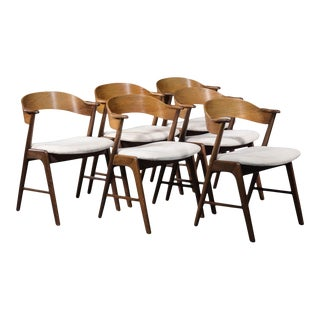 Kai Kristiansen Model 32 Rosewood Dining Chairs - Set of 6 For Sale