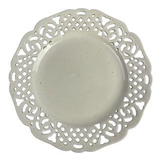 Lace Edge Creamware Plate For Sale