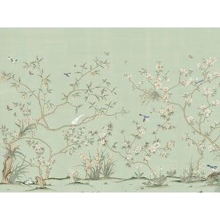 """Casa Cosima Delphine Green Wallpaper Mural - 4 Panels 144"""" W X 108"""" H For Sale"""