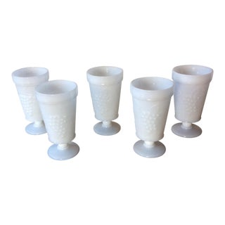 Vintage Milk Glass Tumblers by Anchor Hocking Glass, 1960s - Set of 5