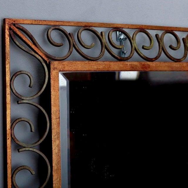French Art Deco Gilt Iron Framed Rectangular Mirror - Image 3 of 7