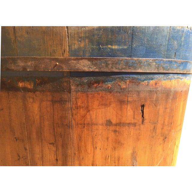 Wood Vintage French Vineyard Barrels For Sale - Image 7 of 10
