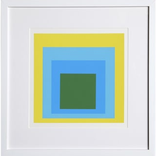 Josef Albers - Portfolio 1, Folder 5, Image 1 Framed Silkscreen For Sale