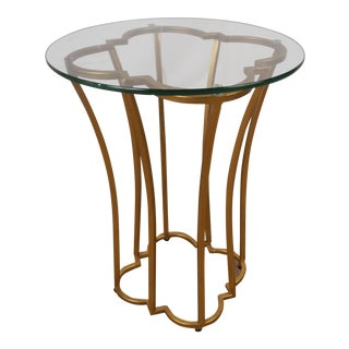 Bungalow 5 Magnolia Side Table in Gold For Sale