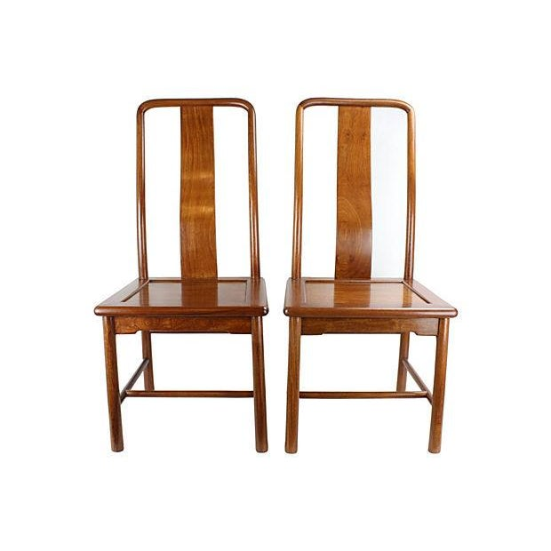 Modern Ming-Style Huali Chairs - A Pair - Image 1 of 5