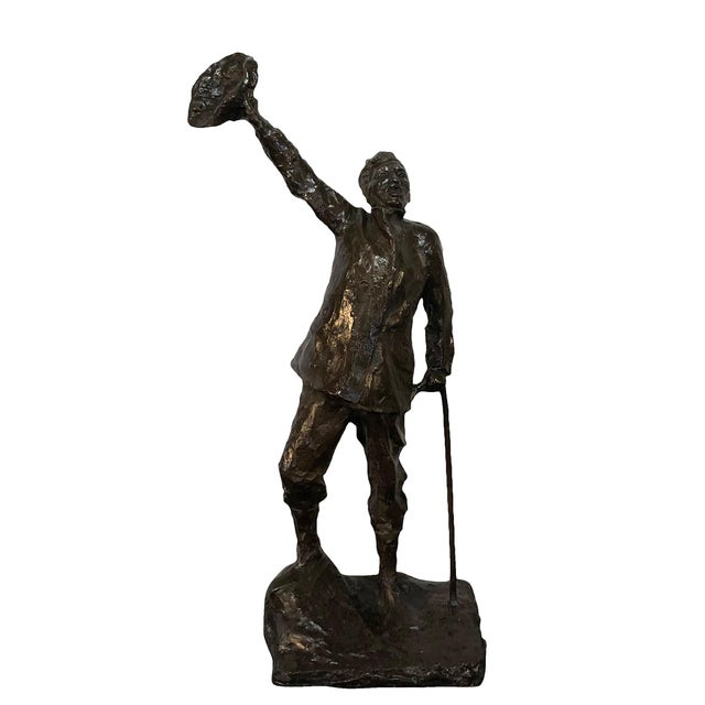 19th Century French Sculpture the Wanderer by Aime Jules Dalou For Sale In West Palm - Image 6 of 6