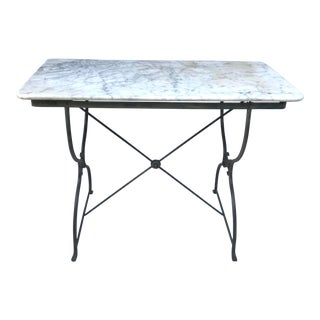 Antique French Marble Bistro Table For Sale