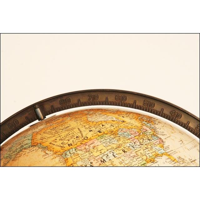 Mid-Century Modern Replogle World Globe W Brass Stand - Image 7 of 11