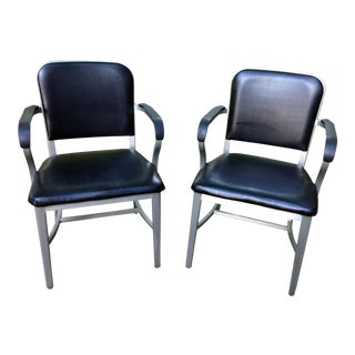 1960s Mid-Century Modern Good Form Aluminum Chairs - a Pair
