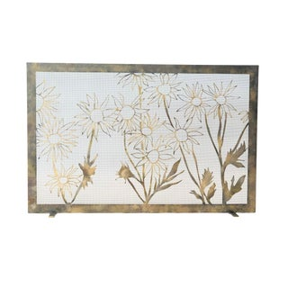Claire Crowe Collection Summer Field Fireplace Screen For Sale