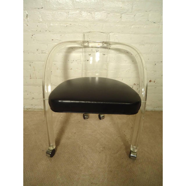 "Wycombe-Meyer Lucite ""Loop"" Chairs - Set of 4 - Image 5 of 8"