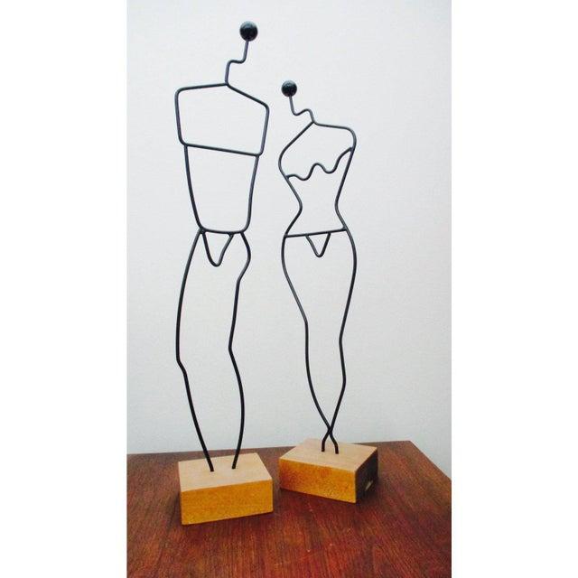 Silver Vintage Industrial Modernist Wire Dress Form Mannequin For Sale - Image 8 of 12