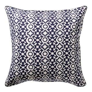 Navy Roberta Roller Rabbit Elsa Decorative Pillow For Sale