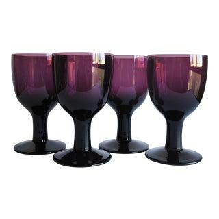 Large Vintage Glasses - Set of 4