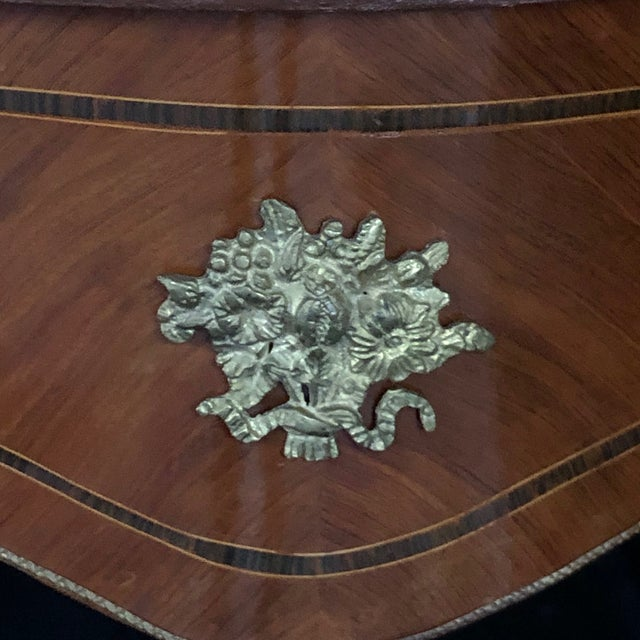 French Louis XV Style Two Sided Bureau Plat Desk For Sale - Image 10 of 13