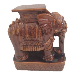 Brown Elephant Garden Seat For Sale