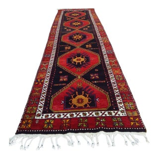 Adiyaman Mount Nemrut Antique Runner Rug - 3′11″ × 13′9″