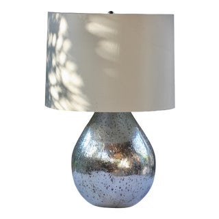Early 21st Century Mercury Glass Table Lamp For Sale