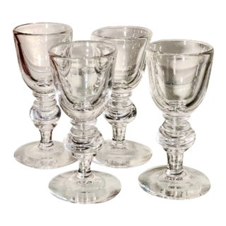 Set of 4 Signed Steuben Crystal Cordial - Frederick Carder C.1950's For Sale