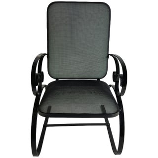American Art Deco Mesh and Flat Steel Springer Chair For Sale