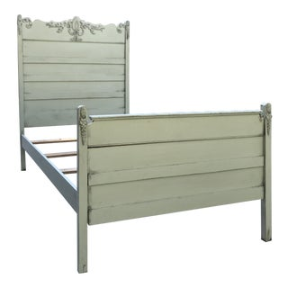 20th Century Americana Green Painted Twin Bed For Sale