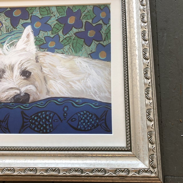 Contemporary Contemporary Westie Dog Print by Judy Henn For Sale - Image 3 of 5